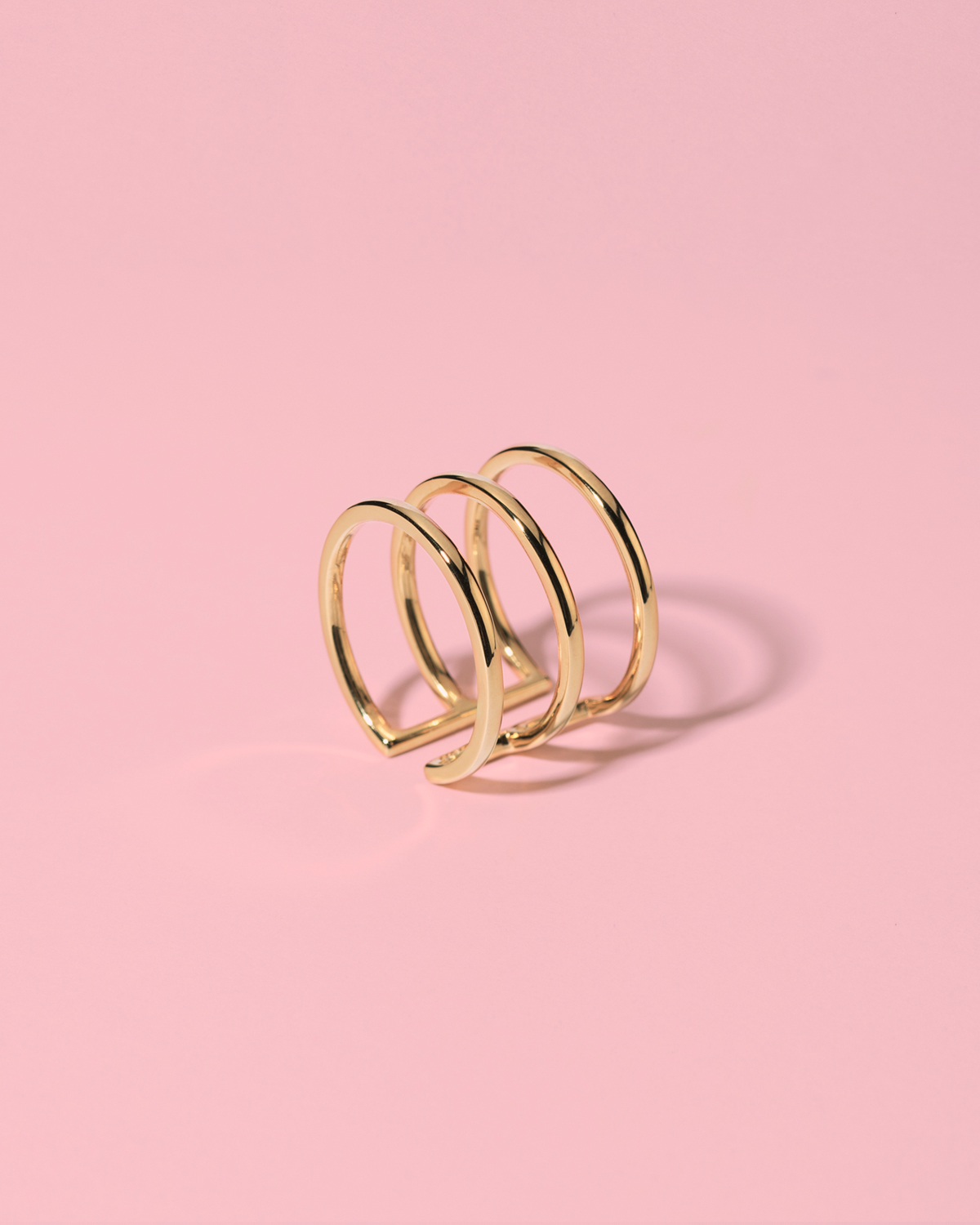 Runway ready <br>gold-plated ring