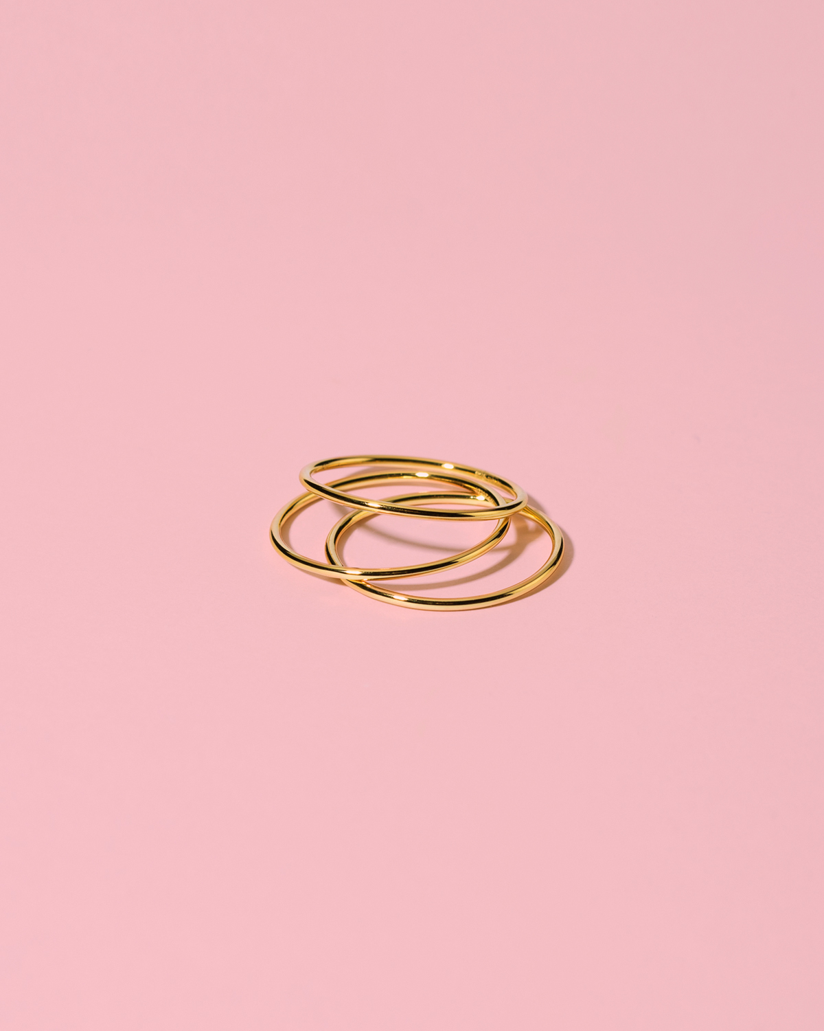 Triple trouble <br>set of gold-plated rings