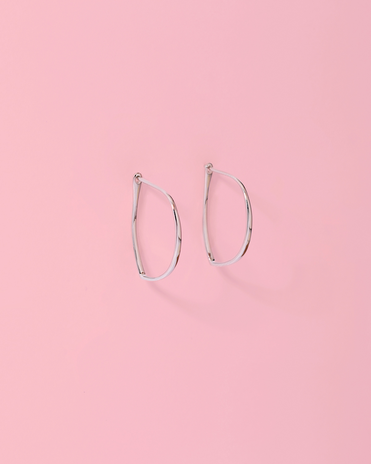 Hoop me not <br>silver earrings