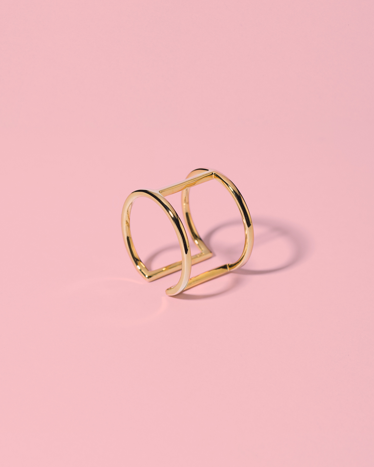 Play it smart <br>gold-plated ring